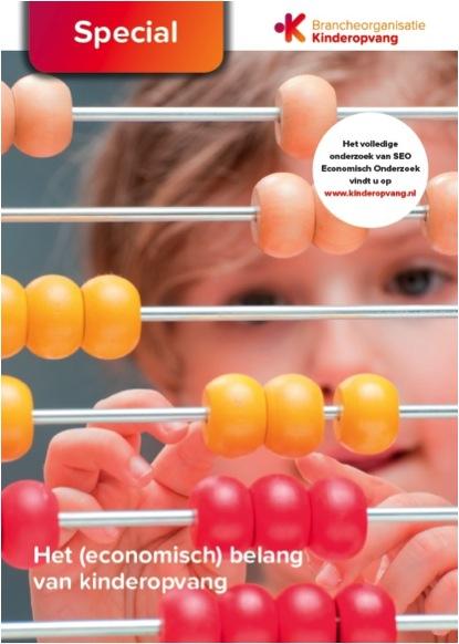 Kinderopvang zorgt voor welvaartsgroei van 1 miljard euro